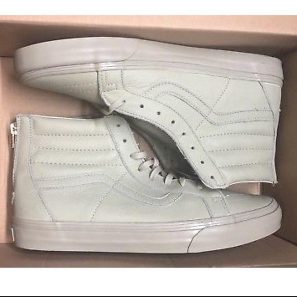 Vans CA Sk8 Hi Zip Boot Leather Agate Grey Shoes 4123028897